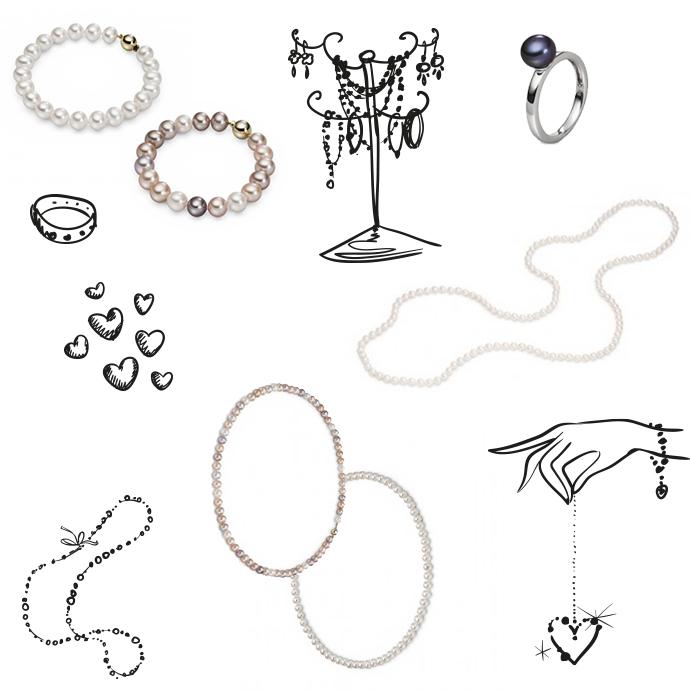 Menseo hochwertiger Perlenschmuck