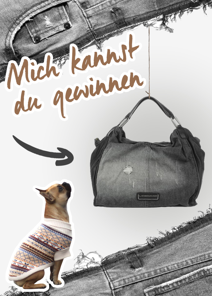 whoismocca, austrian fashionblogger, liebeskind shopper denim, nova denim used black liebeskind, französische bulldogge, french bulldog, gewinnspiel, giveaway