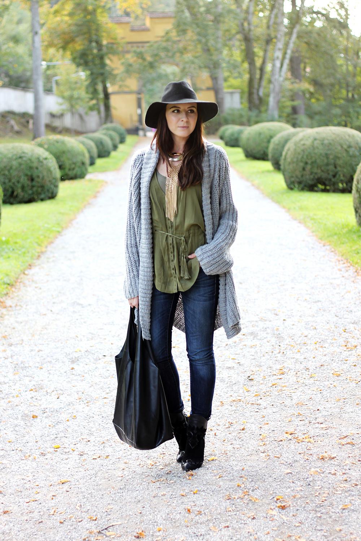 whoismocca fashionblog tirol austria cardigan orsay aw 14 15 mavi jeans zara boots hmtrend studiocollection khaki bluse fedorahut shopper