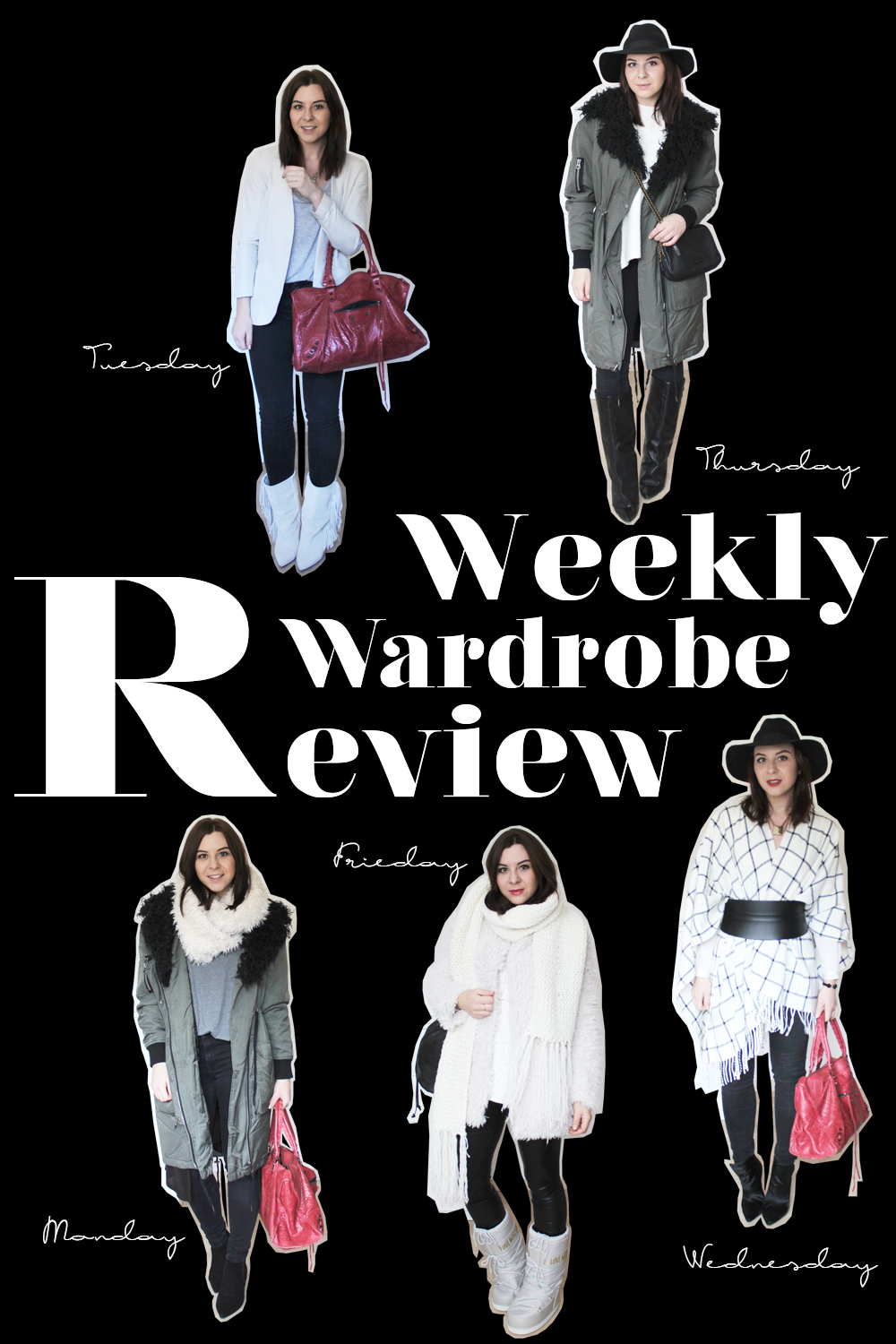 weekly wardrobe review, blogger tirol, whoismocca, isabel mariant, balenciaga, topshop, fedora, schlapphut, liebeskind, moschino, moon boots, cape