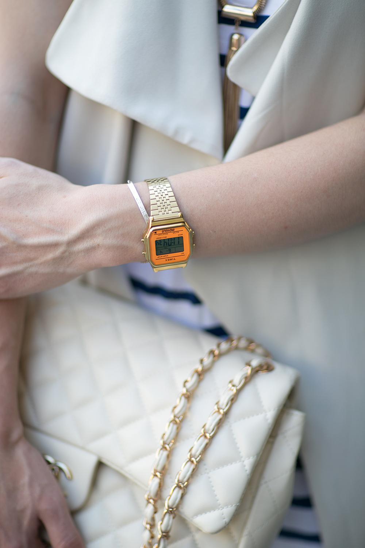 who is mocca, blog tirol, tirolblog, innsbruck, modeblog, street style, fashionblogger, austrianblogger, lipsy jumpsuit, zalando, just fab high heels, chanel jumbo beige, weste kombinieren, timex uhr gold orange, whoismocca.com