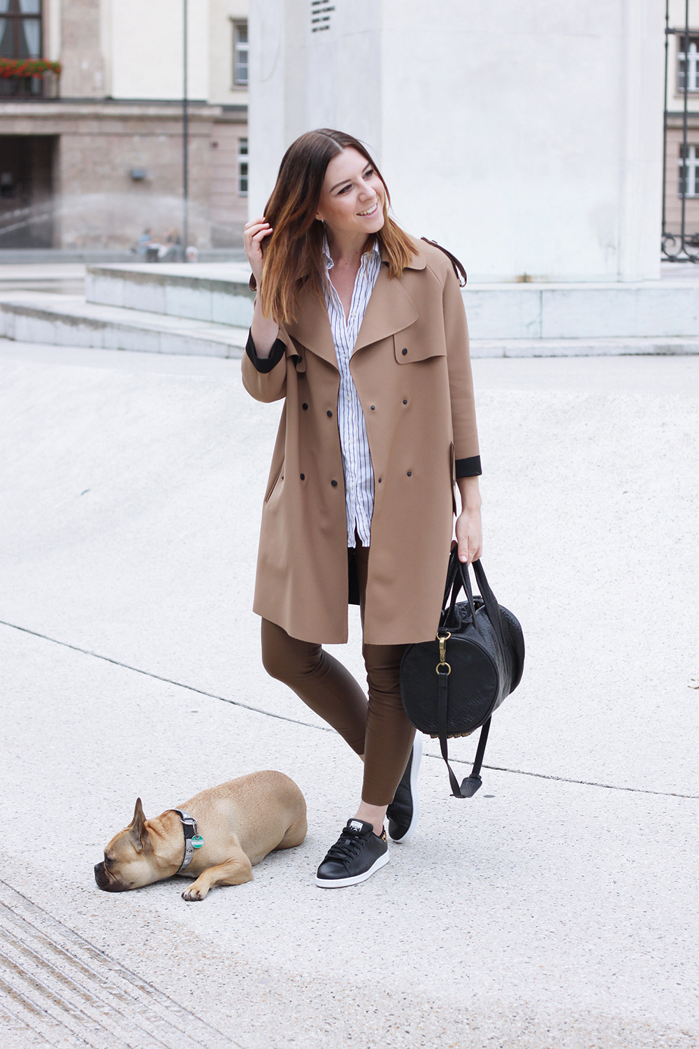 Stan Smith Sneaker Lederhose Und Topshop Trench