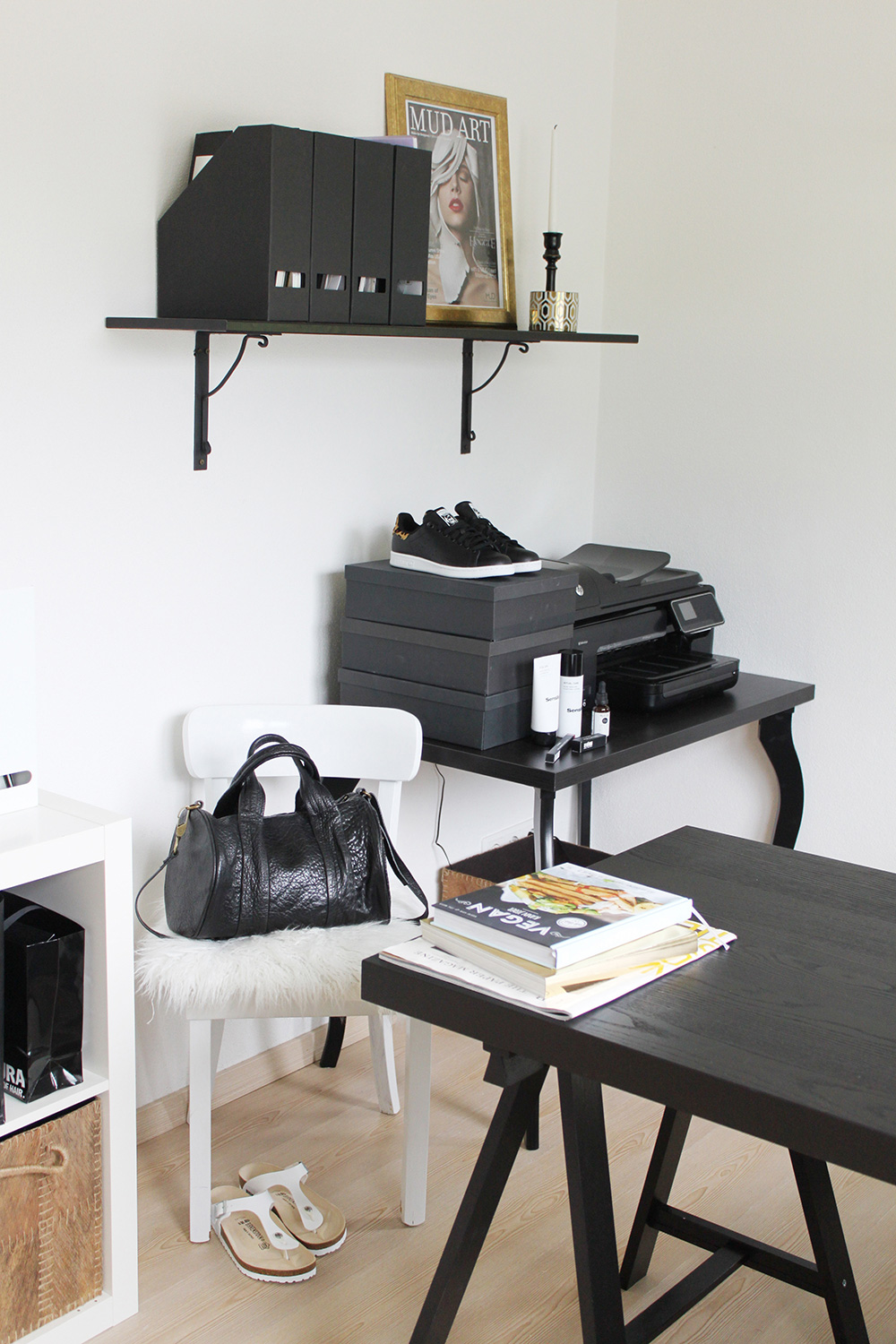homestory home office mit ikea voga und eames. Black Bedroom Furniture Sets. Home Design Ideas