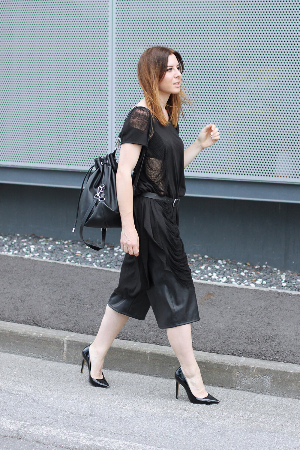 All Black Streetstyle In Innsbruck Mit Culotte Free