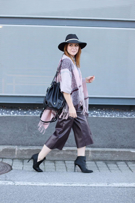 Leder Culotte kombinieren Modeblog Fashionblog