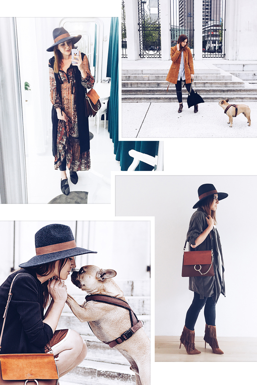 who is mocca, modeblog, fashionblog, ootd, outfit, alltagsoutfit, boho maxikleid sandro ferrone, chloe faye, sam edelman fransenboots, fromwhereistand, gardasee outfit, frenchie, wildledermantel zara, fedora, whoismocca.com
