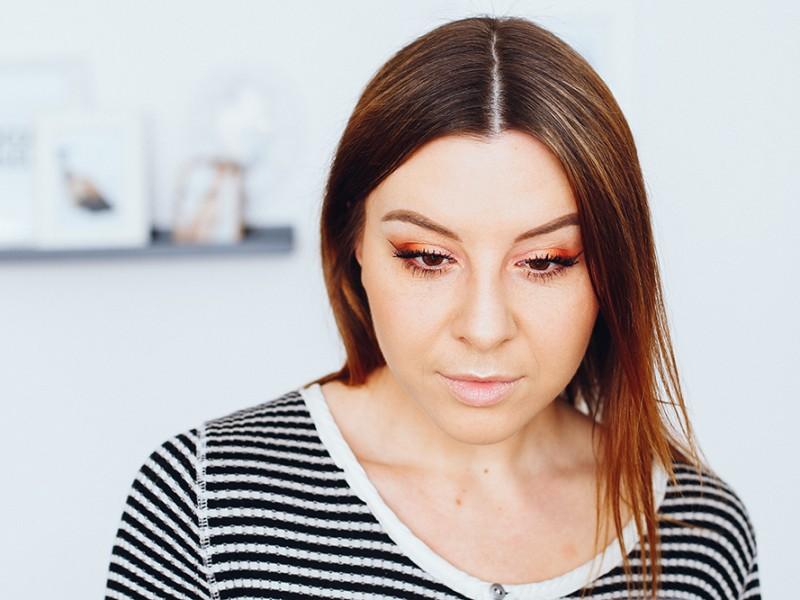 who is mocca, beautyblog, influencer, get ready with me, zoeva makeup, warm spectrum eyeshadow palette, coral spectrum rouge palette, orange amu, tutorial, youtube, deutsch