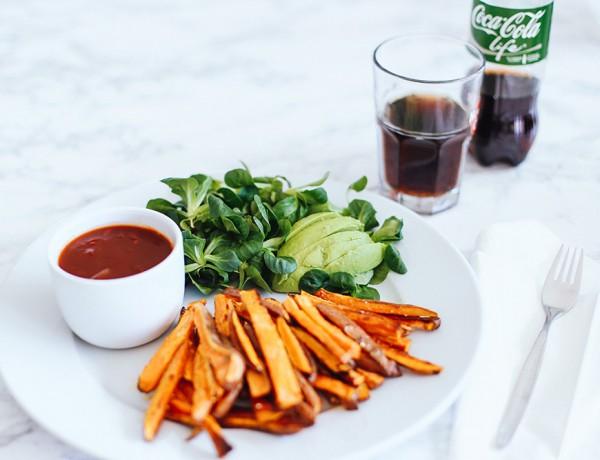 Süßkartoffel Pommes, Coca Cola BBQ Sauce, vegan, vegetarisch, vegan leben, coca cola life, rezept, foodblogger, whoismocca.com