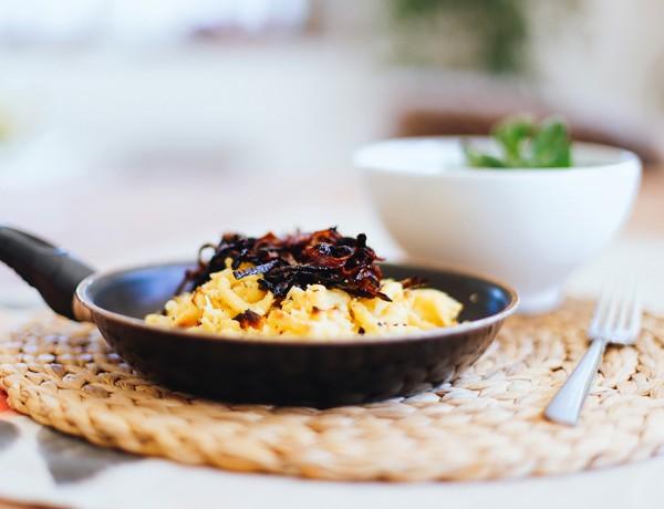 vegane Käsespätzle, Feldsalat, Vogerlsalat, Kasspatzln, Tiroler Essen, Food Blog, whoismocca.com