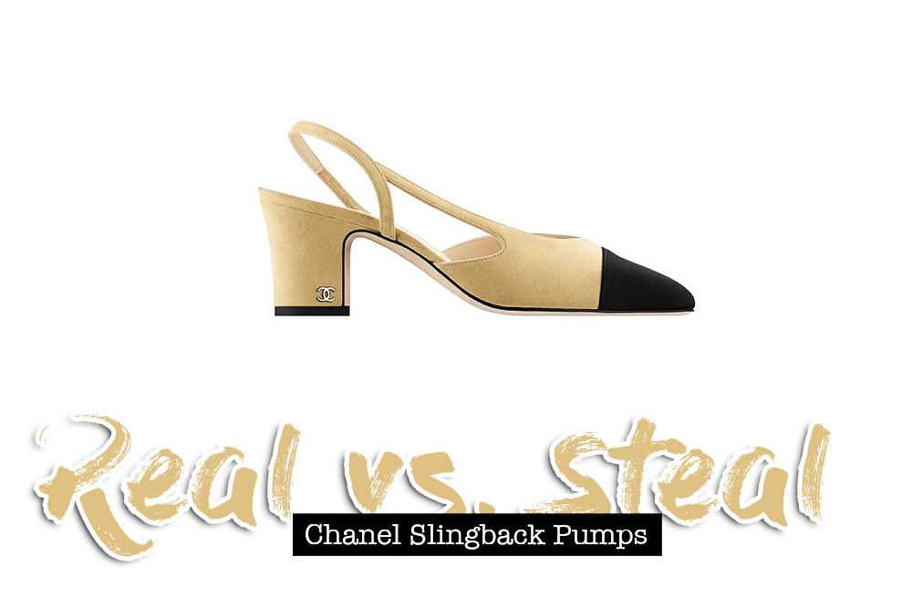 Chanel Two-Tone Slingback Pumps, Lookalikes, Dupes, Real vs. Steal, Fashion Blog, whoismocca.com