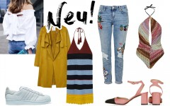 Neu in den Onlineshops März 2016, Mary Janes, Jeans mit Patches, Häkelkleid, gelber Trench, Adidas Originals Sneaker Superstar, Missoni Lookalike Badeanzug, Off Shoulder Bluse, Fashion Blog, whoismocca.com