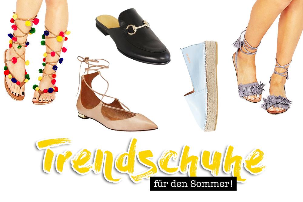Die schönsten Trendschuhe für den Sommer, Espadrilles, Pom Pom Sandalen, Fransen High Heels, Slipper, Mules, Lace Up, Fashion Magazin, Blogazine, Modeblog, whoismocca.com