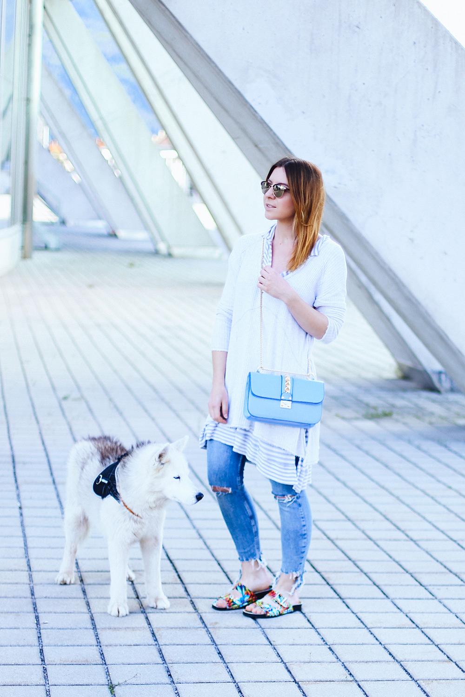 Blumen Schlappen, Streifen Shirt, Valentino Glam Lock Bag, Streetstyle, Fashion Blog, Modeblog, Blogazine, whoismocca.com