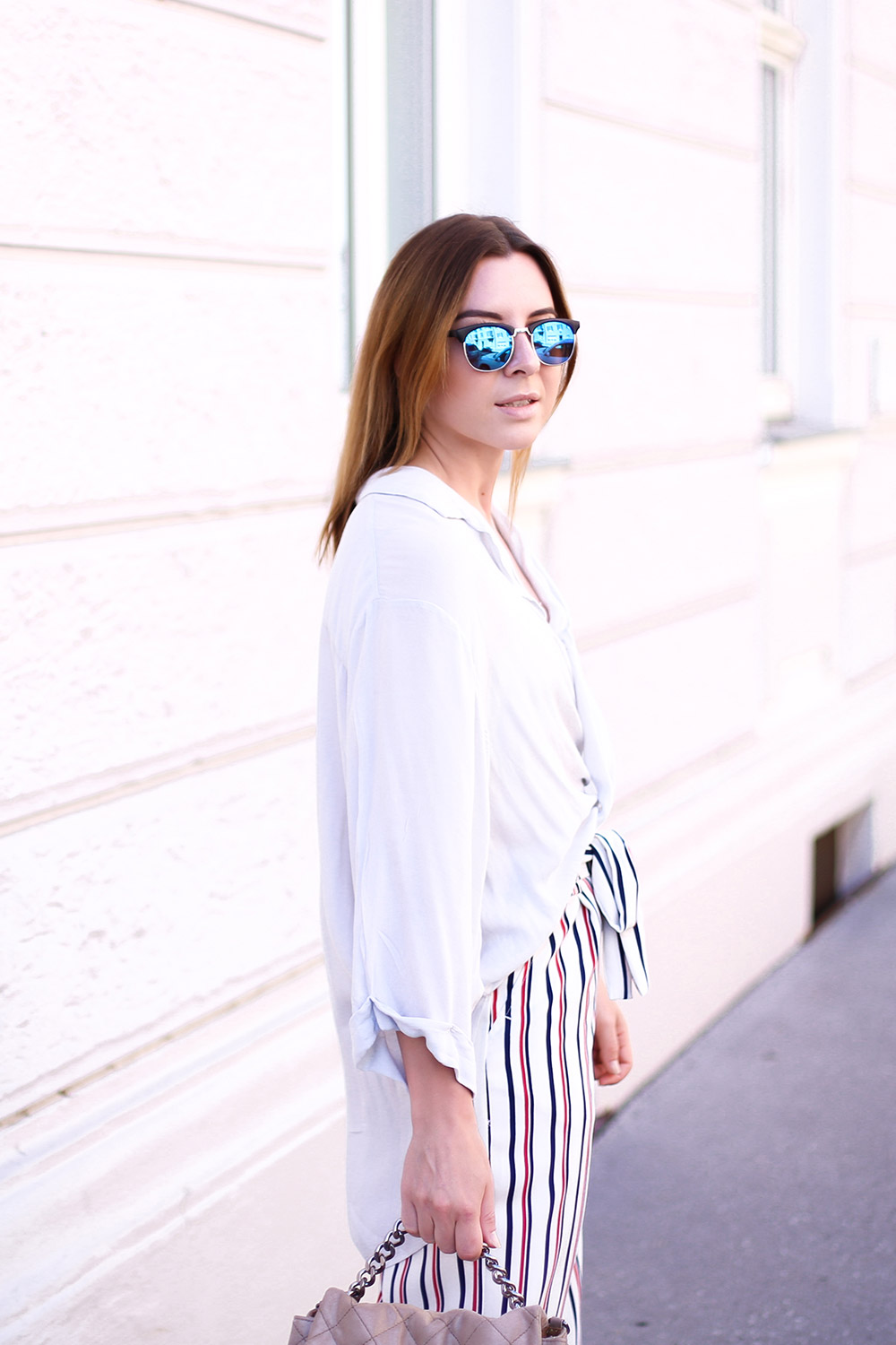 Striped Culottes, Sneakers, Streetstyle Innsbruck, Outfit Inspiration, Stella McCartney Bag, Fashion Blog, whoismocca.com