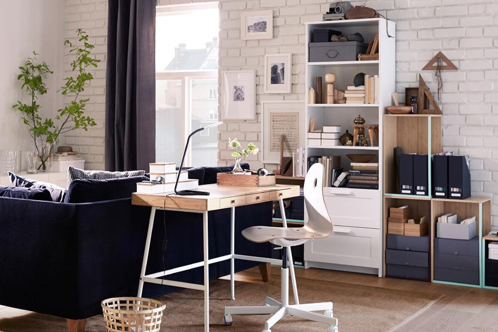Home office ideen deko funktional kreativ intelligent stauraum