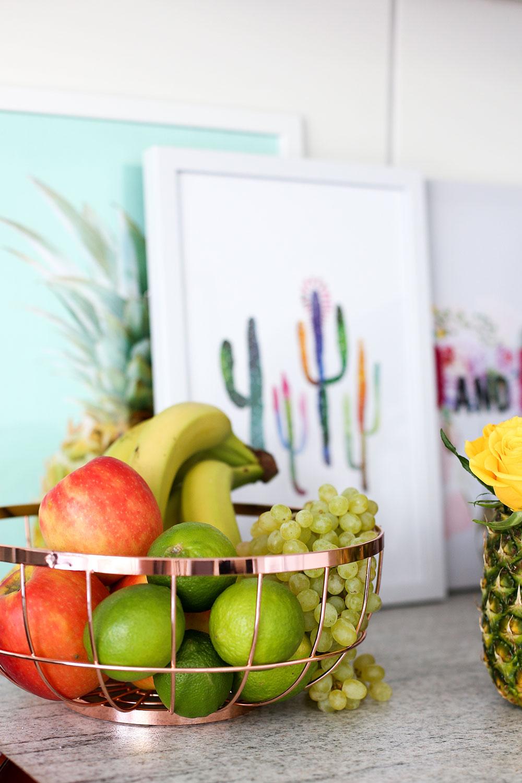 Küchen Dekoration, DIY Ananas Vase, Rose DIY, Pimp my Kitchen, Küche verschönern, Küchen Hacks, Do It Yourself, Interior Blog, Magazin, whoismocca.com