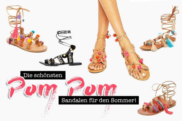 Pom Pom Sandalen, Trendschuhe Sommer 2016, die schönsten Sommerschuhe, Bommel Schuhe, Modeblog, Fashion Blog, whoismocca.com
