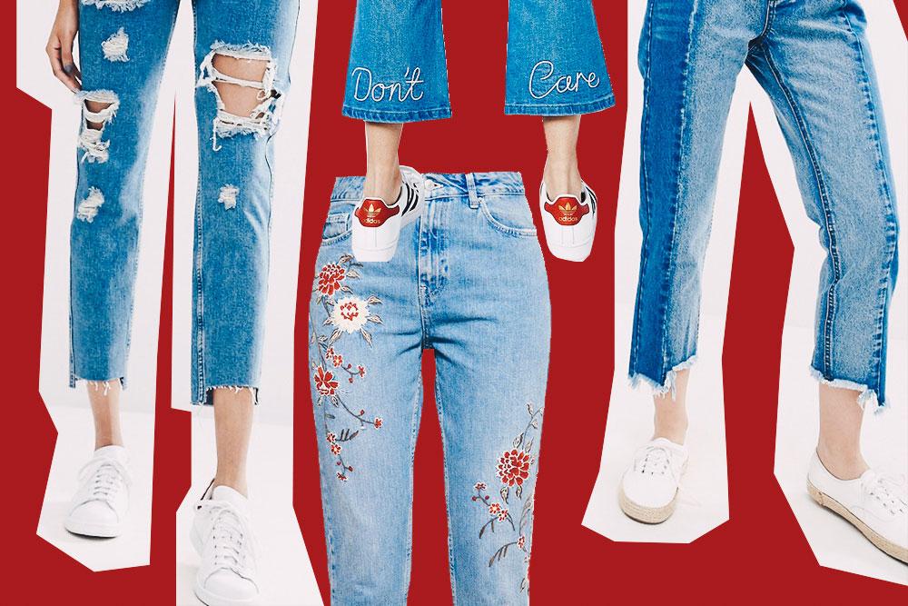 Das sind die 2 Top Jeans-Trends für den Herbst, bestickte Jeans, Jeans mit Stickerei, distressed Jeans, Stufensaum, Vetements Jeans Lookalikes, Jeans mit asymmetrischem Saum, Fashion Blog, Modeblog, whoismocca.com