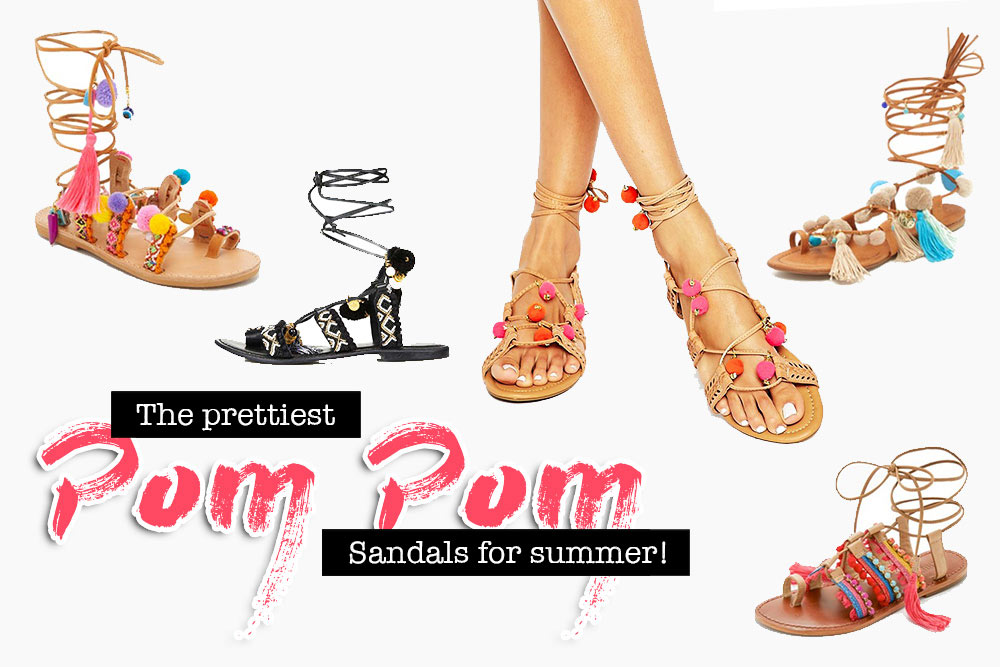The prettiest Pom Pom Sandals for summer, Fashion Blog, whoismocca.com