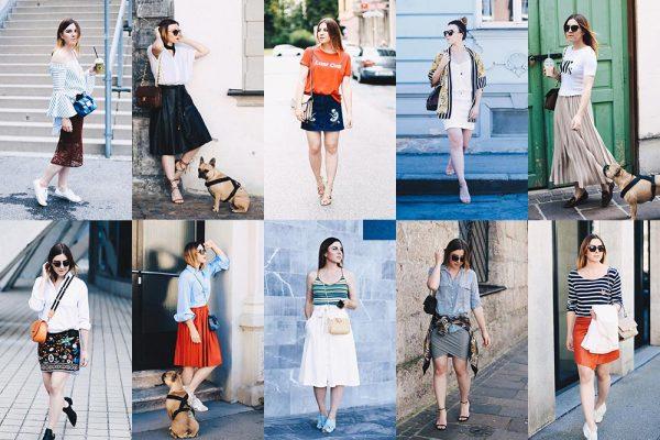 Sommer Lookbook, Outfit Inspiration, 10 verschiedene Outfits mit Rock, Fashion Blog, Streetstyle, Modeblog, whoismocca.com