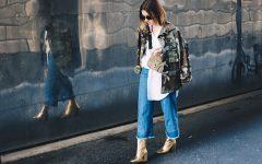 Oversize Camouflage Parka, Denim Culotte, goldene Boots, Streetstyle, Herbst Outfit, Metallic Boots, Cross Body Bag, breiter Riemen, Fashion Blog, Modeblog, whoismocca.com