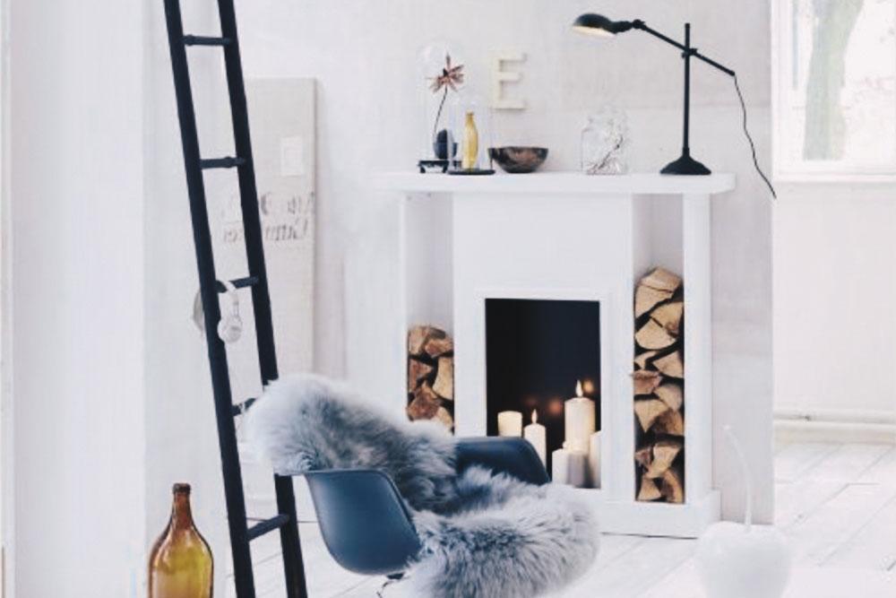 wohnzimmer winter dekorieren
