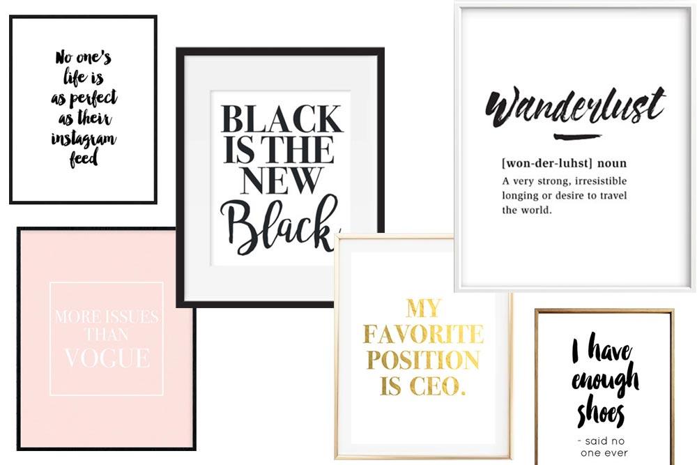 Die Schönsten Statement Poster Und Lifestyle Prints Für Dein Zuhause!,  Wohnzimmer