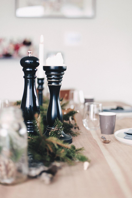 Weihnachtlich Gedeckter Esstisch Weihnachtsdeko Tischdeko Interior