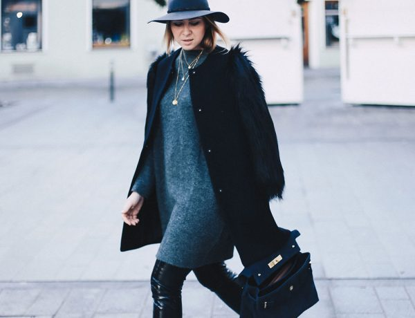 Fenty Creepers, Puma, Rihanna, Outfit Idee, Winteroutfit, Streetstyle, Fake Fur, Lackleder, Outfit Blog, Modeblog, Fashion Blog, Style Blog, Kurt Geiger Tasche, Rag & Bone Fedora, whoismocca.com