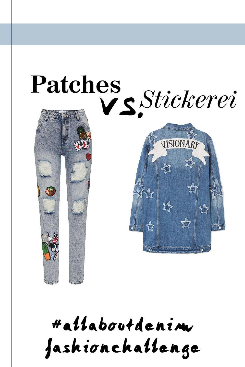Fashion Challenge März, all about denim, patches, stickerei, blogger outfits, blogparade, Fashion Blogger Battle, Modeblog, whoismocca.com