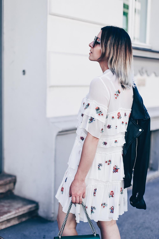 Zara kleid stickerei blumen