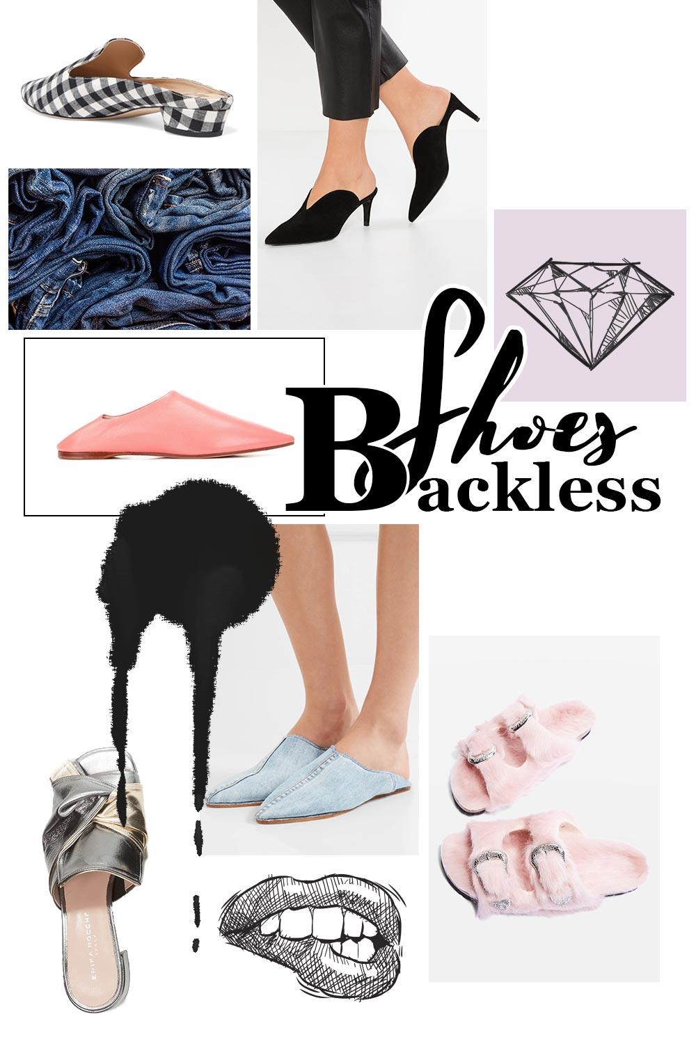 Fashion Mood Board Backless Shoes, Slipper, Pantoletten, Trend 2017, Fashion Trends Moodboard, Modetrends Inspiration, Style Blog, Modeblog, Fashion Blog, Inspiration, www.whoismocca.com