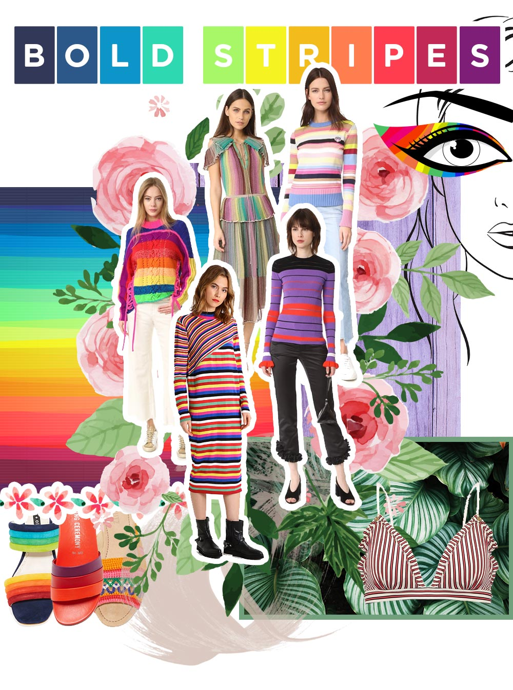 Fashion Mood Board Bold Stripes, Trend 2017, Fashion Trends Moodboard, Modetrends Inspiration, Style Blog, Modeblog, Fashion Blog, Inspiration, www.whoismocca.com