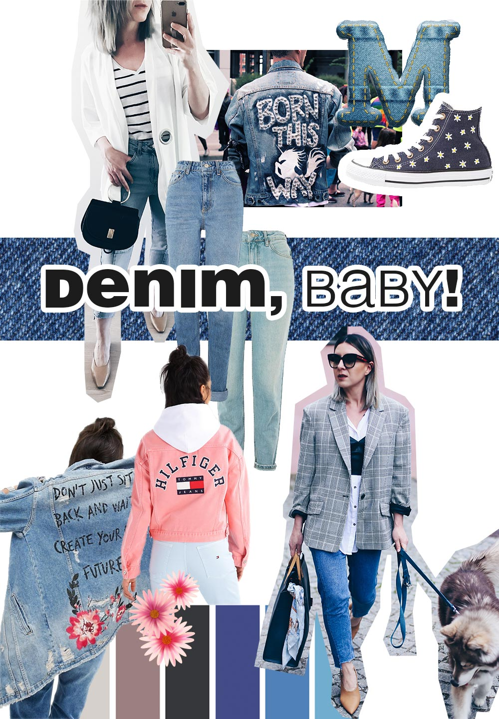 Fashion Mood Board Denim, Trend 2017, Fashion Trends Moodboard, Modetrends Inspiration, Style Blog, Modeblog, Fashion Blog, Inspiration, www.whoismocca.com