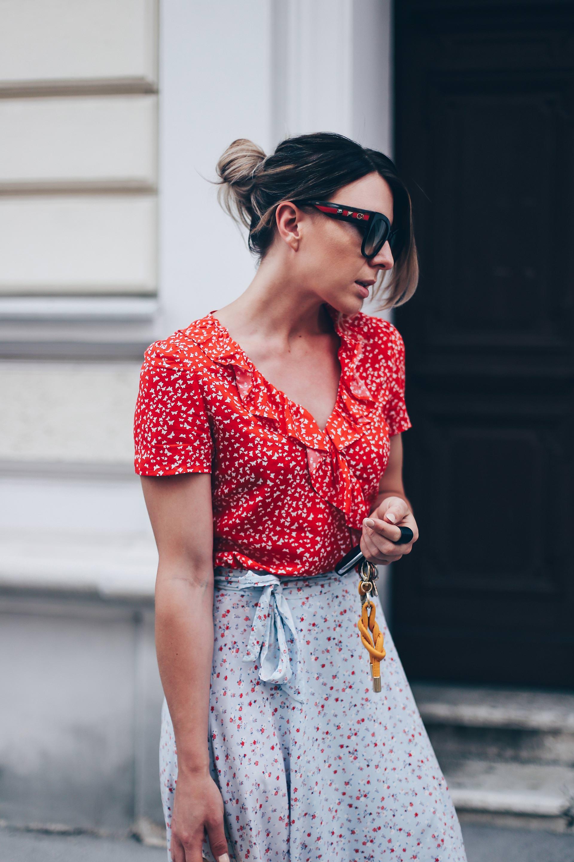 Sommer Outfit Idee, Wickelkleid, Volantkleid, Maxirock, Wickelrock, Fashion Blog, Modeblog, Summer Wardrobe Essentials, Summer Capsule Wardrobe, Outfit Blog, www.whoismocca.com