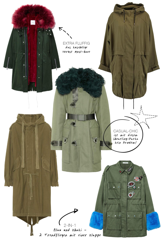 Das Mode Must-have im Herbst: Der Parka in Khaki