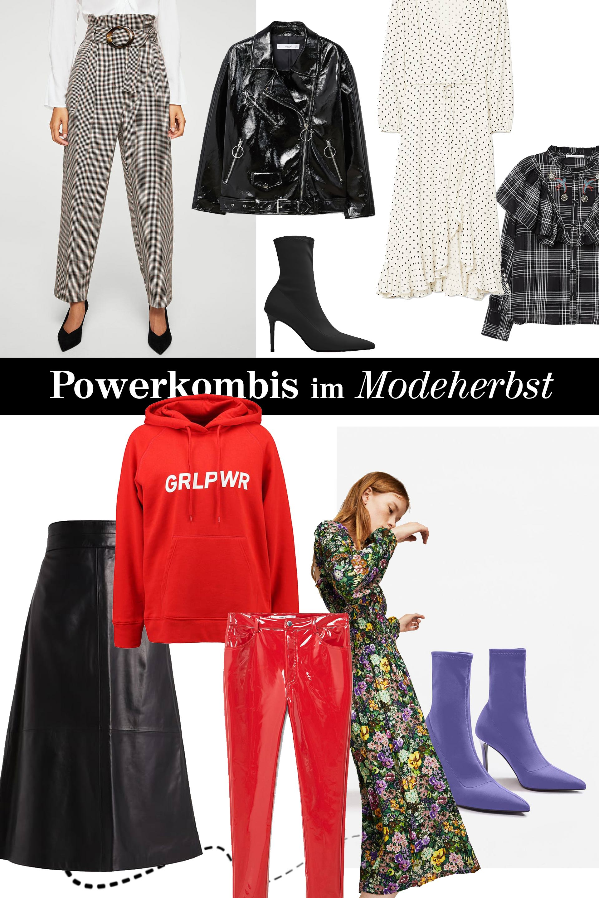 Fashion Modetrends 2017 für den Herbst, Sock Boots, Herbstkleider, Glencheck Karo Blazer, Lack, Vinyl, Hoodie, Midirock kombinieren, Fashion Blog, Modeblog, Style Blog, Outfit of the Day, www.whoismocca.com