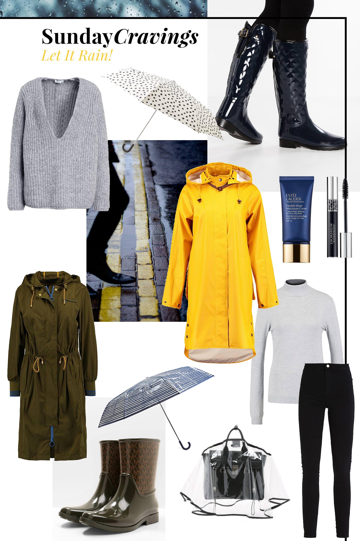 Sunday Cravings, Regenoutfit, Regenwetter Outfit Inspiration, Gummistiefel, Regenmantel, Regenparka stylisch kombinieren, Fashion Blog, Modeblog, Style Blog, www.whoismocca.com
