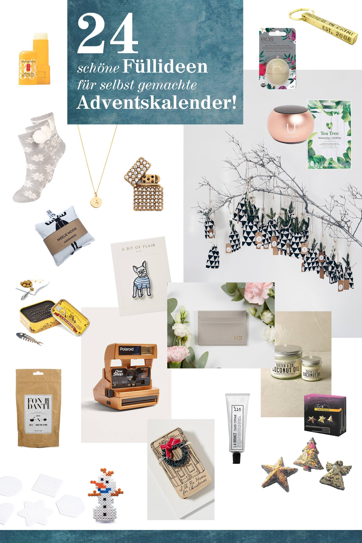 24 Füllideen für selbst gemachte Adventskalender, Was gebe ich in den selbst gebastelten Adventskalender?, DIY Adventskalender Ideen, DIY und Interior Blog, www.whoismocca.com