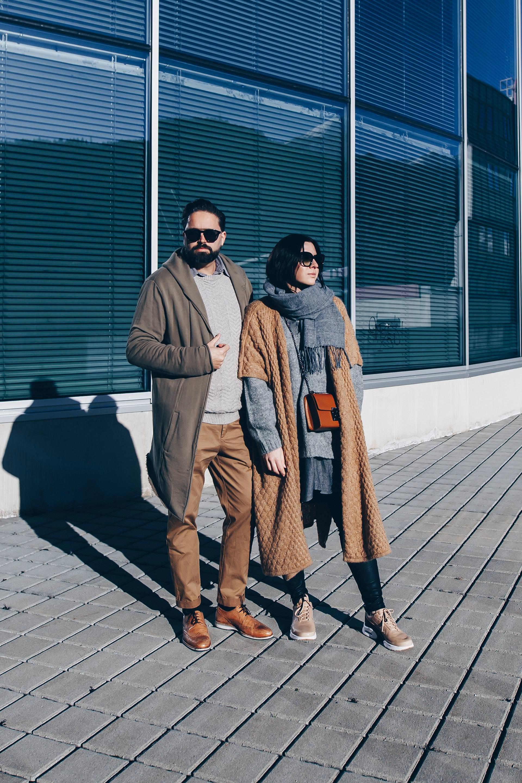Pärchen Outfit, Partnerlook Style, Erdtöne kombinieren, Outfit in Nude und Khaki, Streetstyle, Fashion Blogger, www.whoismocca.com