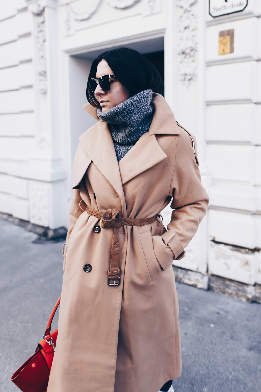 Der Perfekte Winter Trenchcoat In Kombi Mit Wei 223 En Chlo 233