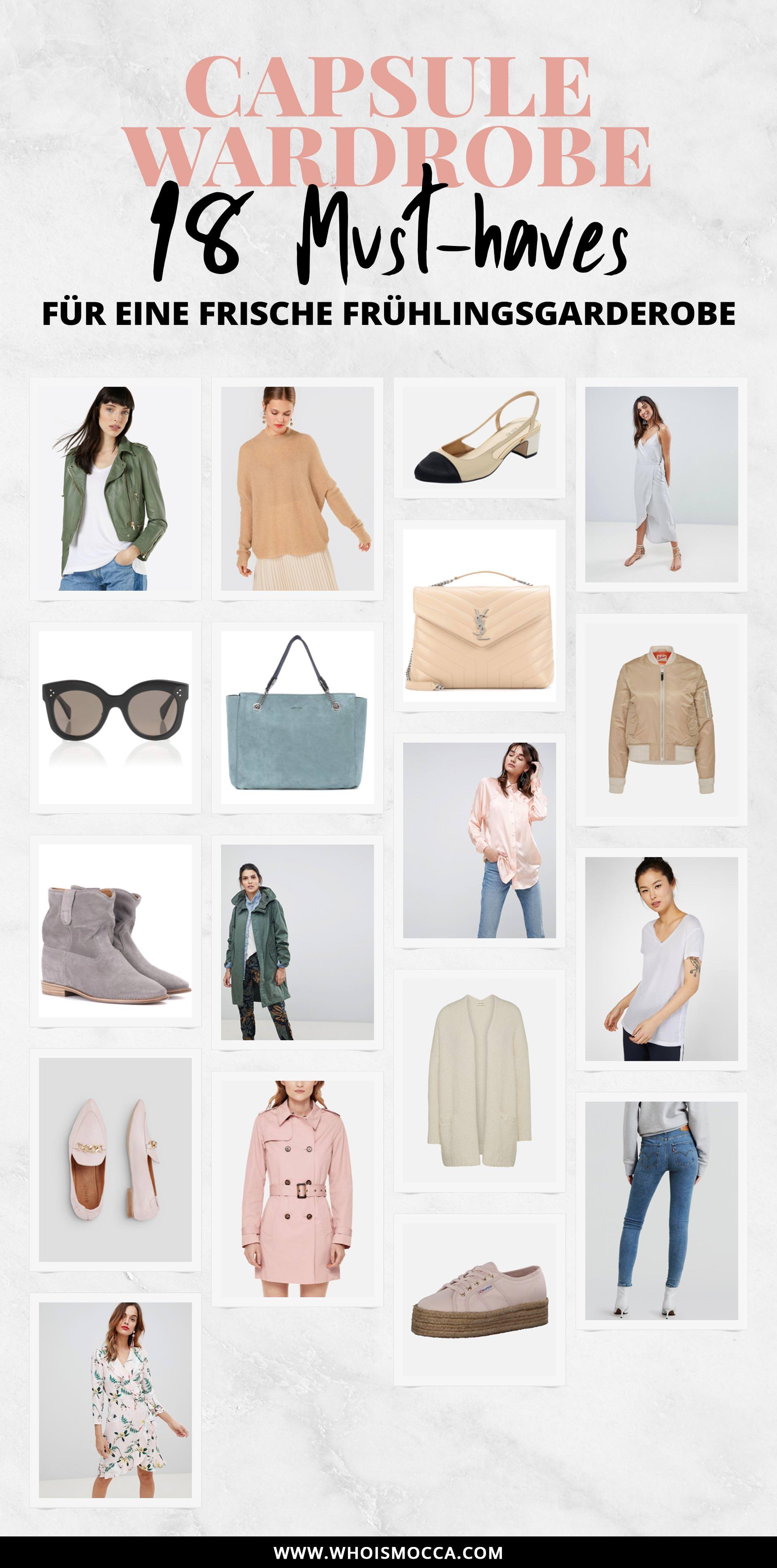 Capsule Wardrobe Essentials für den Frühling, Basics für den Kleiderschrank, Frühlingsgarderobe mit Wardrobe Essentials aufstocken, Outfit Basics online kaufen, Modeblogger, Mode Tipps, www.whoismocca.com