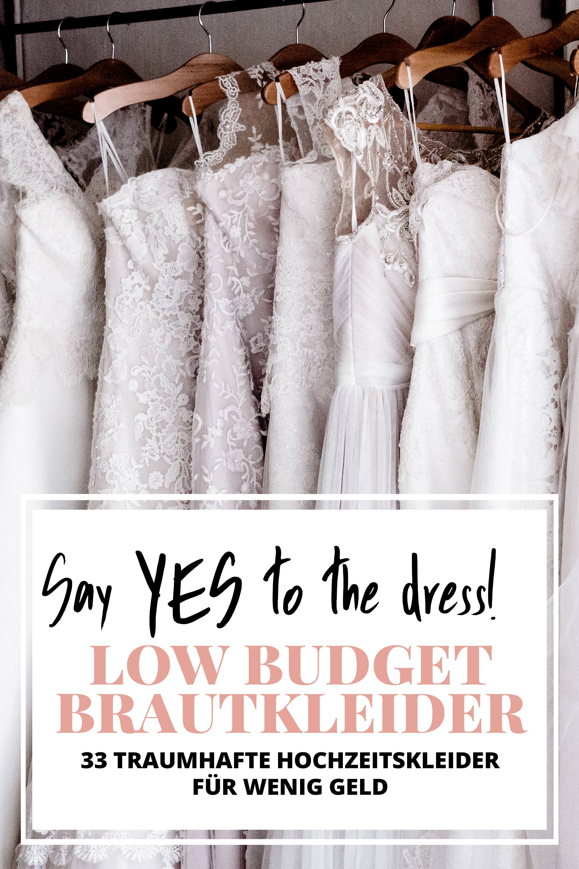 Say YES to the dress: Schöne Low Budget-Brautkleider unter 16