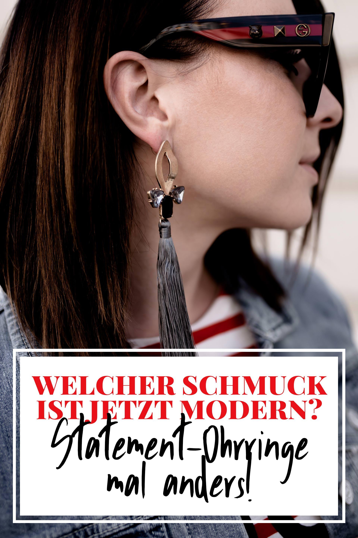 Welcher Schmuck ist jetzt modern und angesagt, Statement Ohrringe Trend im Alltag kombinieren, moderner Schmuck für junge Frauen, Modeschmuck online kaufen, angesagte Schmucktrends 2018, Fashion Magazin, www.whoismocca.com