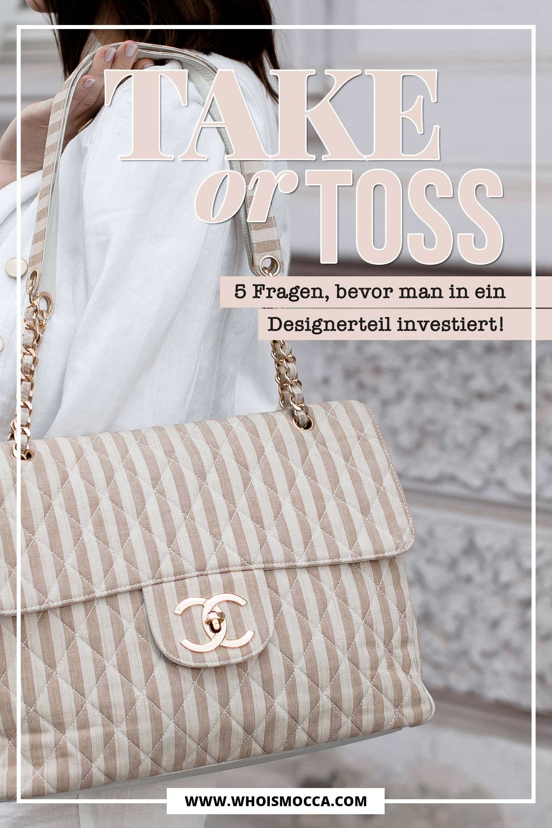 Take or Toss? 5 Fragen, bevor man in ein Designerteil