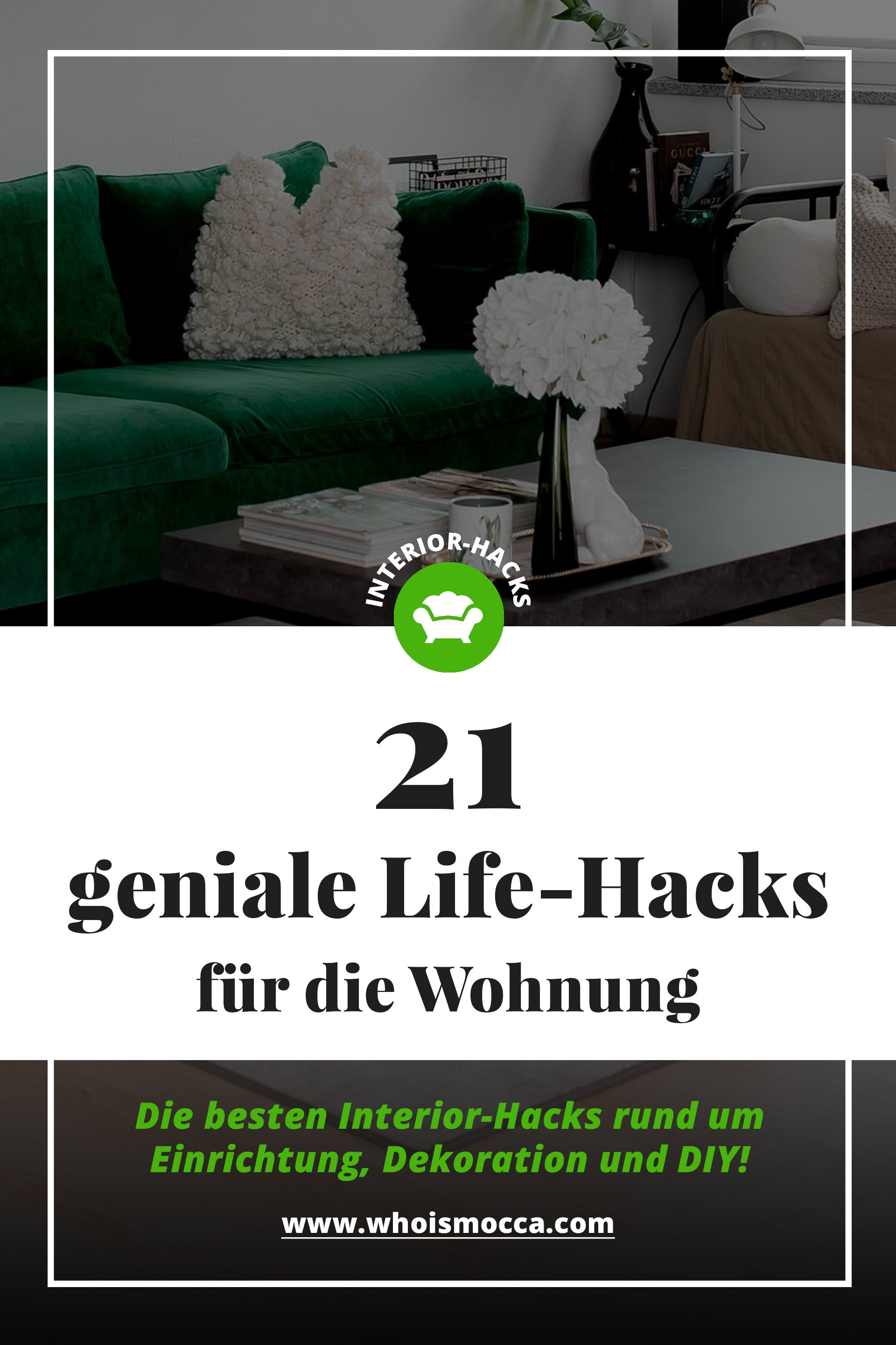 21 geniale life hacks f r die wohnung einrichtung dekoration und diy. Black Bedroom Furniture Sets. Home Design Ideas