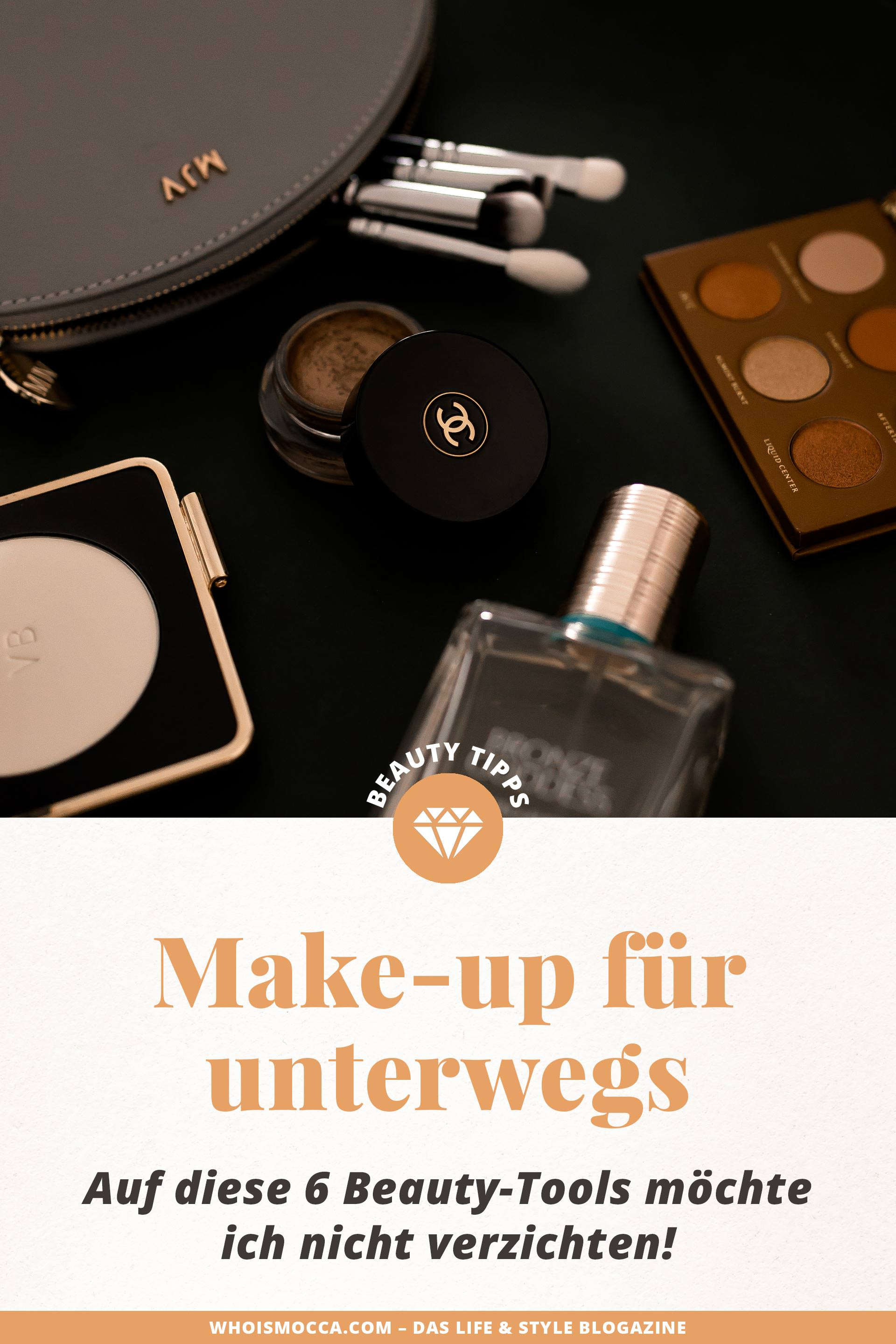enthält unbeauftragte Werbung, Make up für unterwegs, make up must haves, make up must haves für anfänger, make up pinsel für unterwegs, make up unterwegs auffrischen, make up tasche unterwegs, make up set für unterwegs, schminke für unterwegs, make up to go, make up survival kit, puder für glänzende haut, Erfahrungsbericht, Beauty Tipps und Tricks, www.whoismocca.com #beautyblogger #makeup #zoeva #chanel #bronzegoddess #beautytipps #review