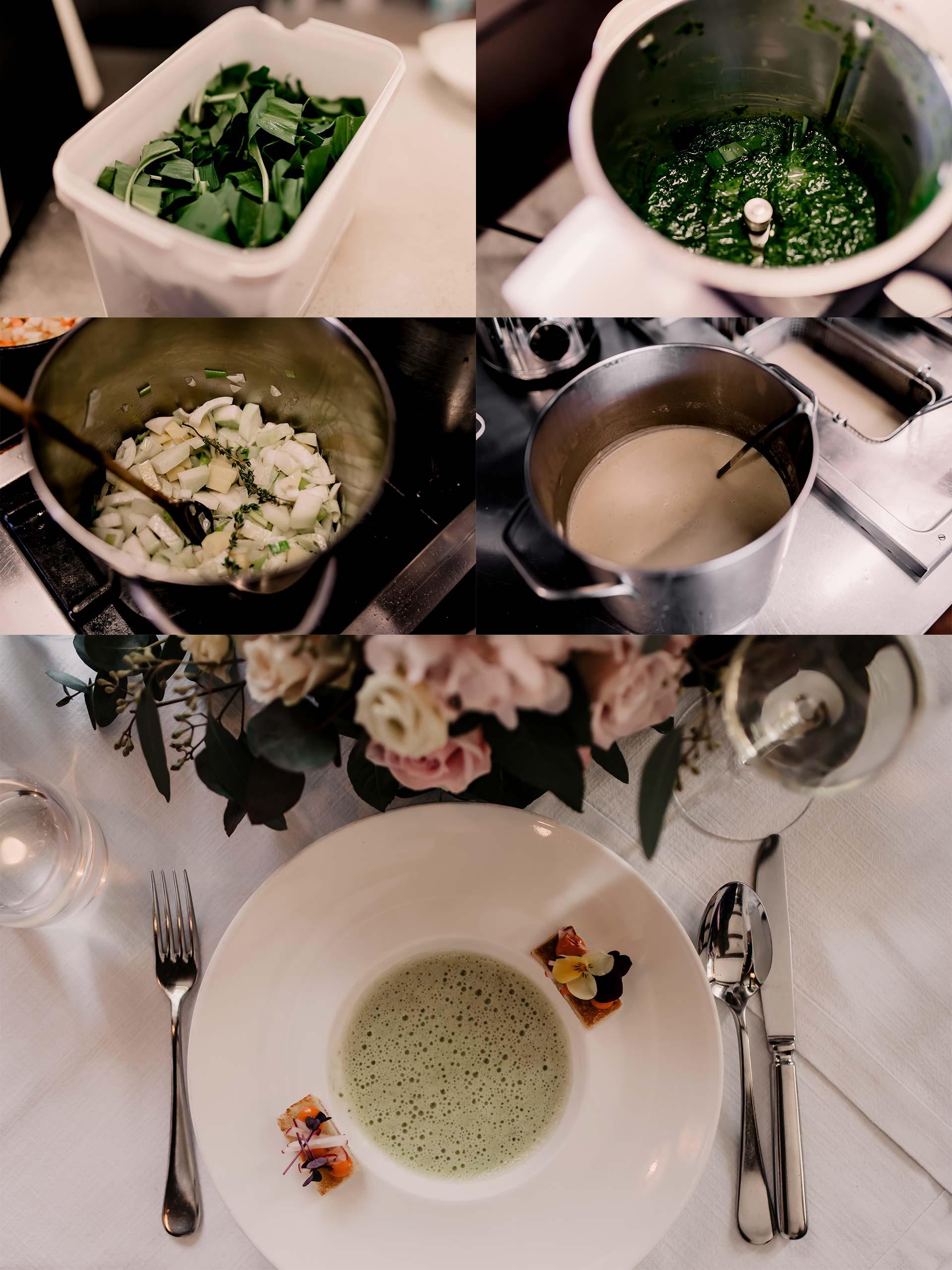 Anzeige. 3-Gänge-Frühlingsmenü mit Bärlauchschaumsuppe,Bärlauchtascherl, Bärlauchpesto, Kartoffelteig herstellen, gesundesFrühlingsmenü,was soll ich morgen kochen,Rezepte mit Bärlauch,Bärlauchsuppe,Kochen mit Hofer, Foodblogger, www.whoismocca.com #bärlauch #frühlingsmenü #kochenmithofer #rezept #vegetarisch #bärlauchschaumsuppe #bärlauchpesto