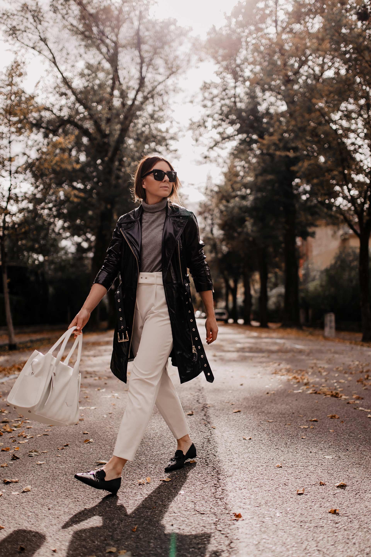 Herbst-Outfits fürs Büro // Anzeige // Diese 2 Business-Casual Looks gehen immer! Auf meinem Modeblog stelle ich dir 2 Büro-Outfits für den Herbst vor, die stilsicher, elegant und bequem sind. www.whoismocca.com #herbstoutfit #bürooutfit #businessoutfit #karriereblog