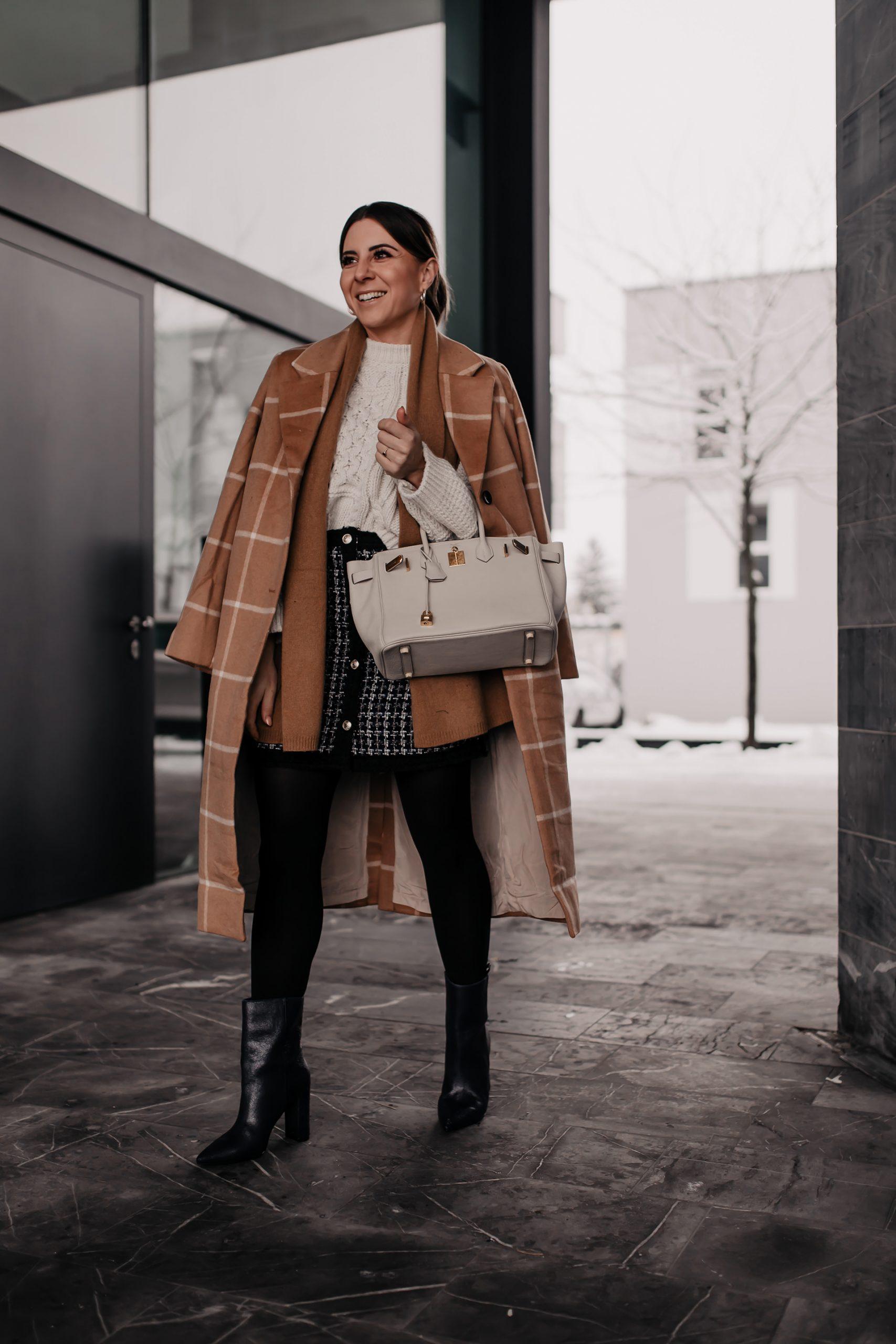Wie du den Tweed-Trend modern im Alltag kombinieren kannst, liest du jetzt auf meinem Modeblog. Ich zeige dir nicht nur ein Winter-Outfit, sondern gebe dir auch 6 Mode-Tipps für den Tweed-Trend. #tweed #winteroutfit #wintertrends #modetrends